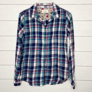 TROVATA Birds of Paradis Plaid Flannel Shirt